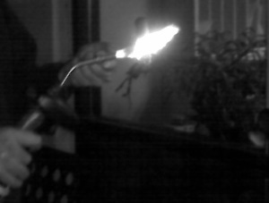 Peter on the Alto Blowtorch